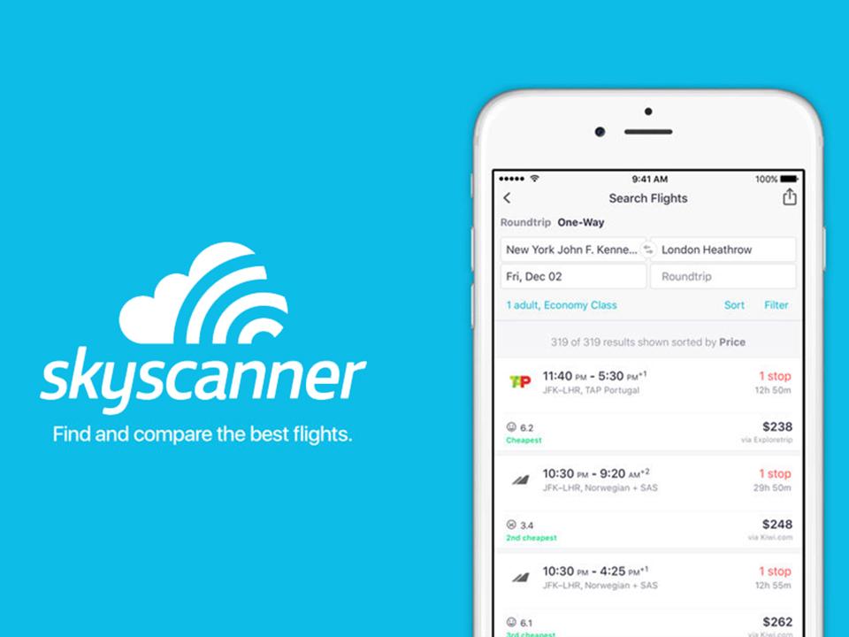 Sky-scanner find cheap flight, hotels, cars